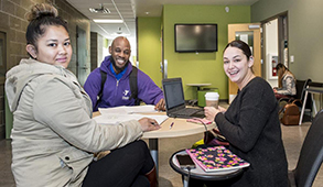 Students working together in Community College of Philadelphia facilities