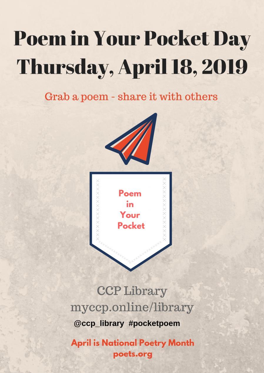 Poem in Your Pocket Day 2019