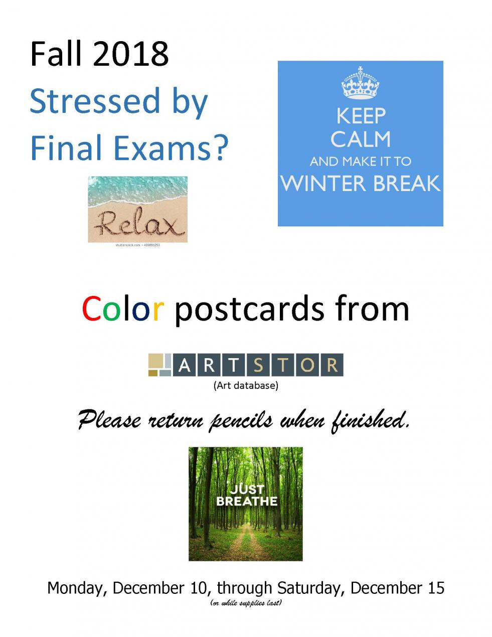 Coloring Stress Relief Flyer