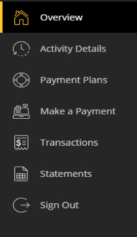 Make a payment screen