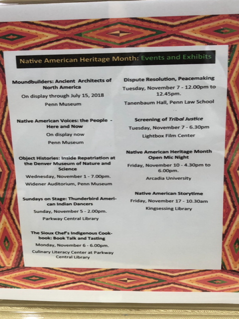 Native American Heritage Month Events