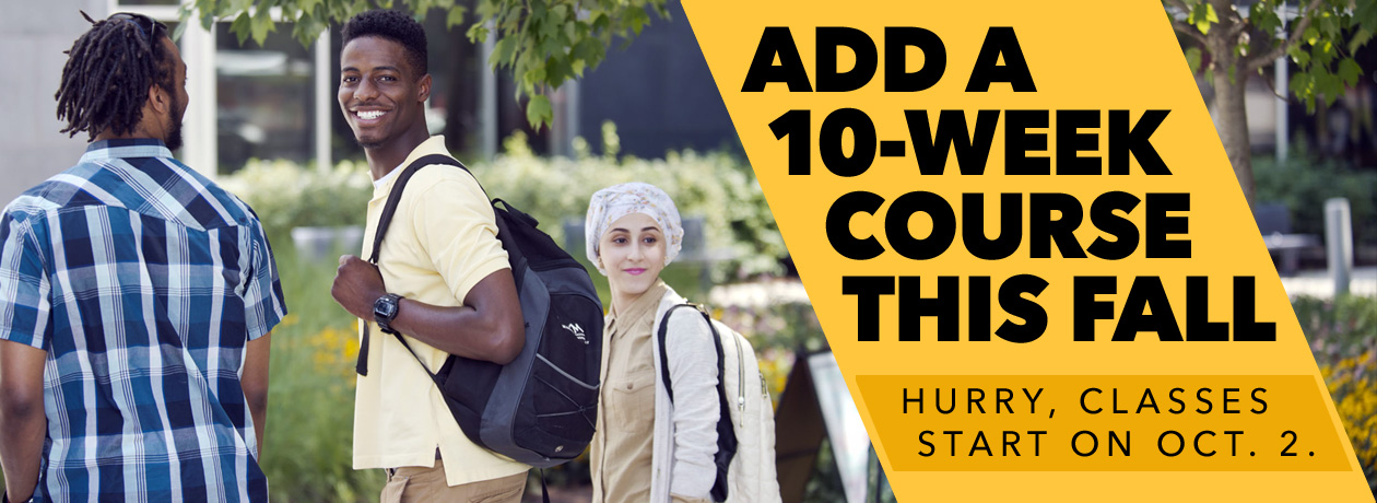 Add a 10-Week Course This Fall