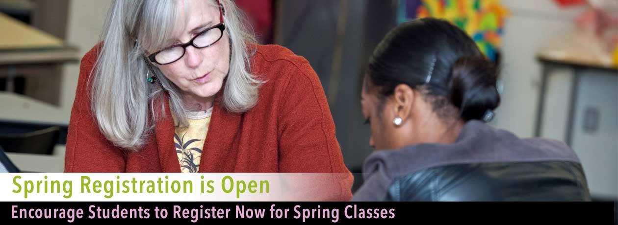 Spring Registration is open