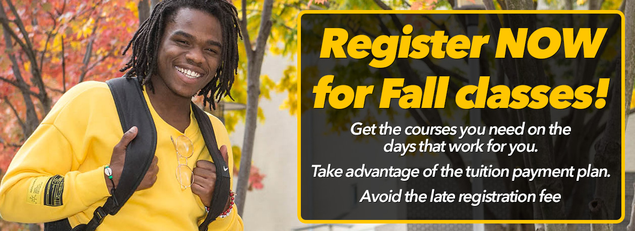 Register NOW for Fall Classes!