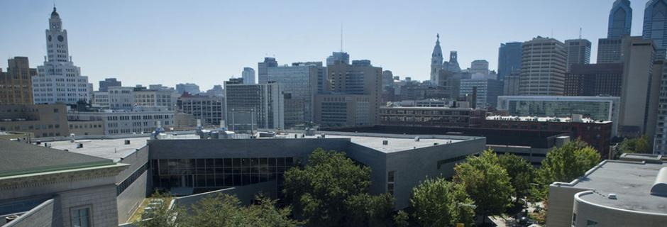 Rooftop view of Main Campus at Community College of Philadelphia.