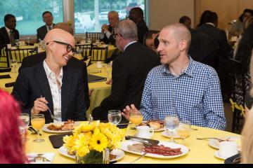 Pathways Magazine featured student and tutor, Cedric Jouin, chats over breakfast.