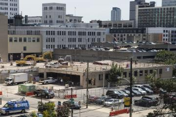 The site of the Hamilton construction project.