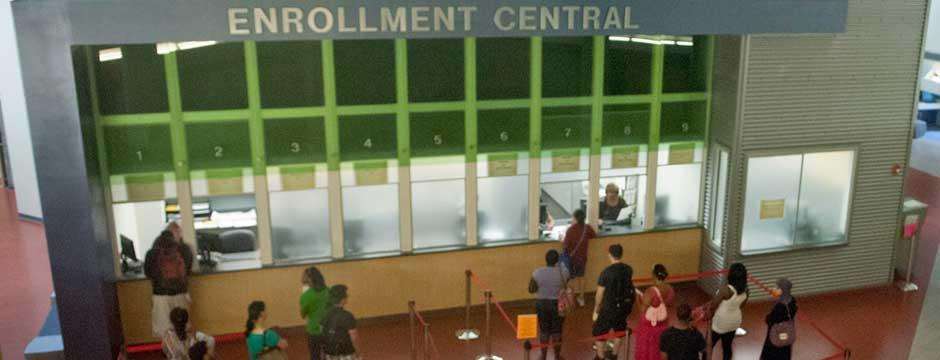 Enrollment Central located in the Bonnell Building