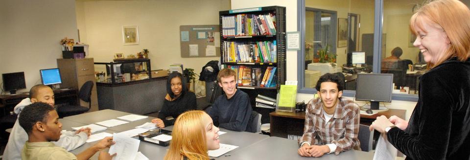 Six Successful Students Studying Statistics